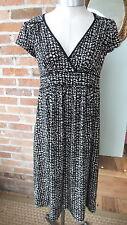 Maternity Dress V-Neck  Black & White Print Size S by Motherhood