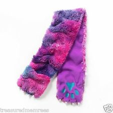 Girl's Faux Fur Monster Paw Muffler Scarf Wrap With Hand Warmer Pockets