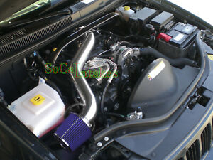 Black Blue Long Air Intake Kit For 2005-09 Jeep Grand Cherokee Commander 4.7L V8
