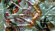 Canarias Island aqua square scarf preowned excellent cond free post D81
