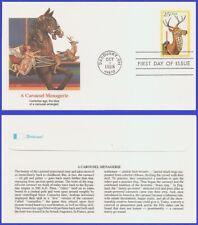 USA3 #2390 U/A FLEETWOOD FDC   Deer Carousel Animals