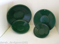 """4pc Se 8"""", 10"""", 12"""" & 14"""" Panning Green Gold Pans"""