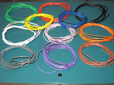 Single Core equipment wire packs 11 x 2 metres different colours 1/0.57mm