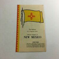 Vintage Official New Mexico Brochure Insignia State Flag Bird Flower Tree
