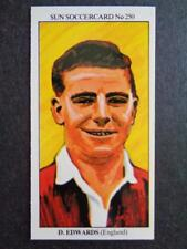 The Sun Soccercards 1978-79 - Duncan Edwards - England #250