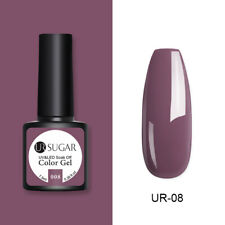 UR SUGAR Mauve Pink UV Gel Nail Polish Glitter Soak-Off Party Gel Varnish 7.5ml
