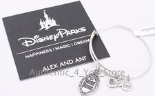 NEW Disney ALEX AND ANI Haunted Mansion Sign Gate Plaque SILVER Bracelet