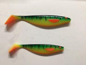 Balzer Shirasu UV Booster Shad Fire Shark - versch. Längen - Gummifisch