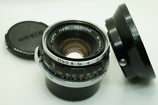 Nikon W-Nikkor 3.5cm f/1.8 RF Lens S mount w/ Original Hood for SP S2 S3 Camera