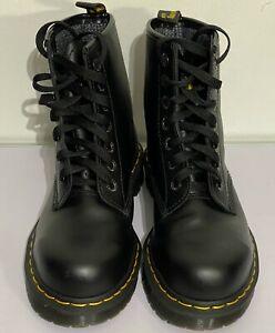 DR MARTEN INDUSTRIAL STEEL TOE CAP SAFETY WORK LEATHER  BLACK BOOTS UK 6
