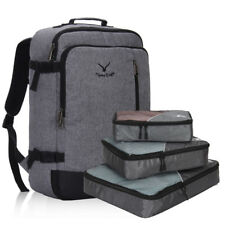 20'' Airplane Luggage Backpack Pilot Backpack Travel Bag 3 Set Packing Cubes