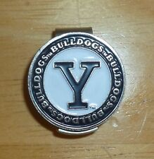 "Yale University Bulldogs 2 sided Golf Ball marker 1"" Hat clip~Licensed NCAA"