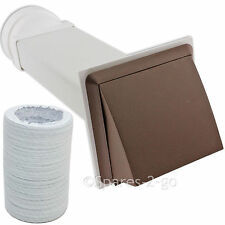 """CDA Wall Vent Kit Vented Tumble Dryer Hose PVC External Outlet Pipe Cowl 4"""""""