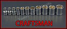 CRAFTSMAN HAND TOOLS 11pc LOT  3/8 Dr SAE 6pt ratchet wrench socket set !