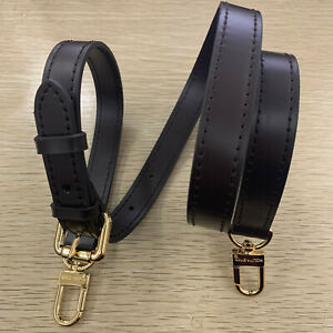 Real Leather Shoulder Purse Strap Replacement Handbag Bag Dark-brown 3/4""
