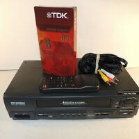 SYLVANIA 4 Head HiFi Stereo VCR VHS Player KVS-600A with Remote & EXTRAS