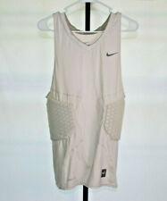 Nike Pro Combat Dri-Fit Compression White Padded Shirt Tank Top Mens Sz 3XL