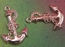 3 Large Anchor Boat Sea Captain Charms Rose Gold Tone Pendant For Jewelry Making