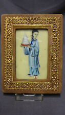 Antique Framed Hand Painted Miniature Painting - Chinese/Indian