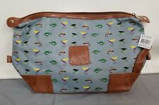 Mainstreet Collection Fly Fish DOPP Bag - Lined with Zipper Top - 9 x 15 in.Flat
