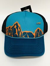 Altra Running Teal & Orange Mountain Trucker Hat Mesh Snap Back New