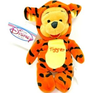Disney Store Mini Bean Bag Plush Pooh Bear as Tigger and Tigger as Pooh Bear Set