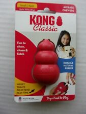 New listing New Kong Classic Red Chew/Chase/Fetch Dog Toy-Fill w/Treats-Small-up to 20 lbs