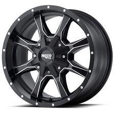 4 16 inch 16x8 Chevy 8 Lug K2500 2500HD Truck BLACK Milled Rims 8x6.5 8x165.1