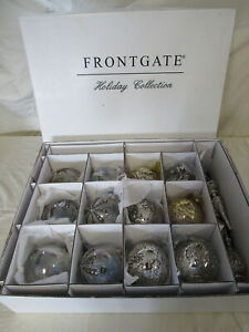 FRONTGATE HOLIDAY COLLECTION CHRISTMAS Xmas ORNAMENTS Lot OF 15