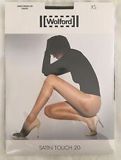 Wolford Womens Satin Touch 20 Tights Nearly Black Size X Large Style 18378