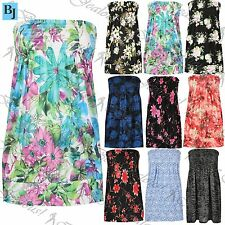 Unbranded Bandeau Floral Tops & Shirts for Women