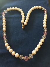 Vintage Napier Cultured Pearl and Bead Necklace 16""