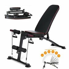 Adjustable Weight Bench Incline Decline Folding Full Body Workout Gym Exercise