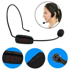 Wireless Microphone Headset FM Transmitter Voice Amplifier for Meeting Teaching