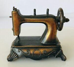 "Miniature Sewing Machine Durham Industries Steel Hong Kong 2.25 x 2.75 x 1.5"""