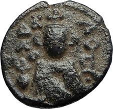 Islamic Arab Byzantine Umayyad Caliphate 670Ad Authentic Ancient Coin i67517