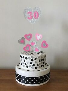 Cake Topper Heart Decoration Birthday All Ages and Colours 1st 13th 16th 21st