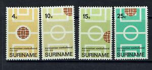 "SURINAM Netherlands 1970 #584-587 mnh ""SOCCER"" A0064"