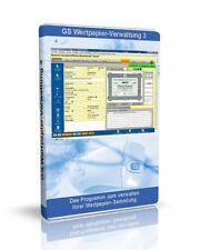 GS Wertpapier-Verwaltung 3 - Software zur Verwaltung Ihrer Werpapier.Sammlung