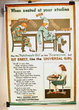 Wizard of Oz Characters 1920s American Seating Co. Advertising Poster