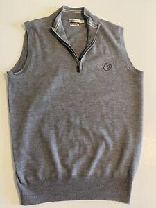 Peter Millar Mens Small NWOT Gray Whisper Rock 1/4 Zip Golf Vest