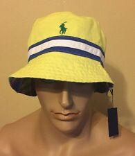 Polo Ralph Lauren Bucket hat large  xlarge Reversible Yellow / Multi