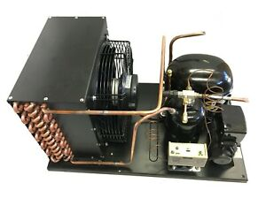 New Indoor Condensing Unit 1 HP, Low Temp, R404A, 220V (Embraco NT2180GKV2)