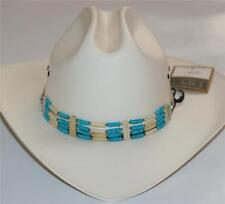 SOUTH WESTERN NATIVE AMERICAN COWBOY Turquoise Natural CHOKER BELT HAT BAND New
