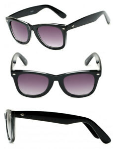1 or 2 Pairs Square Thick Frame Full Lenses Magnified Tinted Reading Sunglasses