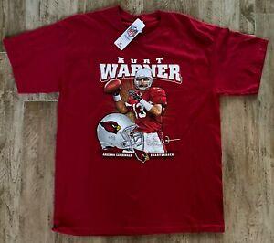 NFL Apparel Vintage Kurt Warner Red Arizona Cardinals T-Shirt-LG-NWT-NEW