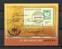 32573) HUNGARY 1984 MNH** Stamp day S/S