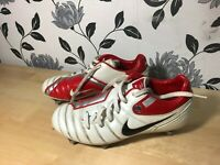 Nike Total 90 Shift Boys Size 5 Uk Silver Studs Football Trainers