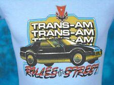 vintage 80s PONTIAC TRANS AM RULES THE STREET PAPER THIN T-Shirt XXS muscle car