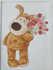 """chiot queue-de-Boofle & Bouquet de fleurs-DMC Diagramme"